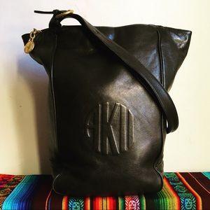 Anne Klein 2 Black Soft Leather Shoulder Handbag